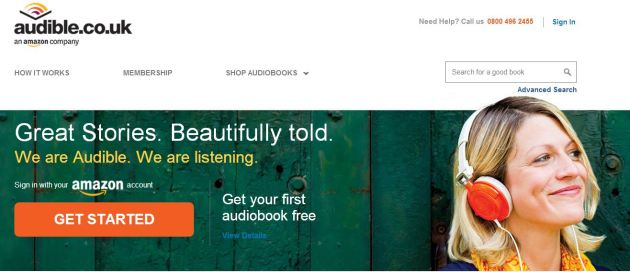 Audible Website