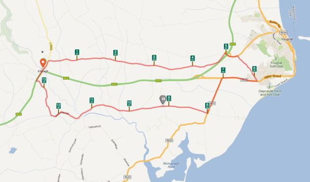 Camino Map Killeagh Youghal