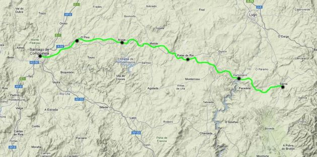 Camino Map Sarria